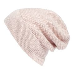 Women's Rebecca Minkoff Slouchy Beanie With Headphones (2.505 RUB) ❤ liked on Polyvore featuring accessories, hats, pale pink, slouchy beanie, saggy beanie, beanie cap, slouch beanie hats and slouchy hat
