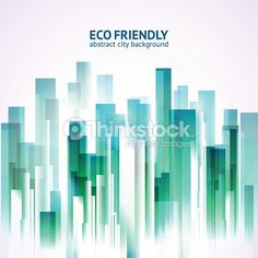 Vector Art : Eco friendly abstract city background