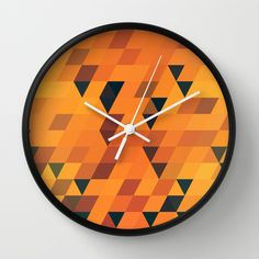 Gold Pattern Wall Clock by Danny Ivan - $30.00