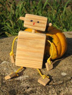 Dřevěný Robot Robot, Activity Toys, Robots