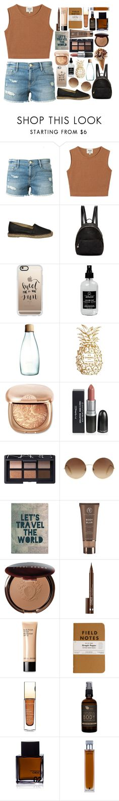 """""""Summe Outfit"""" by marias1808 ❤ liked on Polyvore featuring Frame Denim, Samuji, STELLA McCARTNEY, Casetify, Little Barn Apothecary, Retap, Chanel, NARS Cosmetics, Victoria Beckham and Trademark Fine Art"""