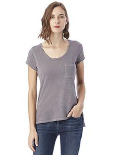 Alternative Ladies' Washed Slub T-Shirt, made of 100% garment-dyed cotton, will soon be your go-to favorite tee. #alternative #womensfashion #cottontee