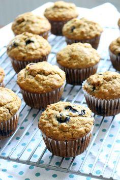 banana blueberry oat muffins 3