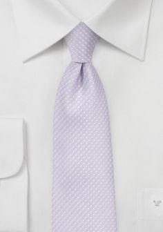 Krawatte zarte Pünktchen blassviolett