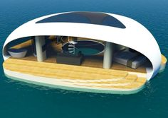 "forbes-life: "" SeaScape: The Floating Luxury Villa That Lets You Dream UnderwaterDesign firm BMT Asia Pacific has developed an aquatic accommodation with an especially striking feature: a see-through,. Villa Design, House Design, Hong Kong, Underwater Bedroom, Conception Villa, Sleep With The Fishes, Eco Architecture, Floating Architecture, Floating House"