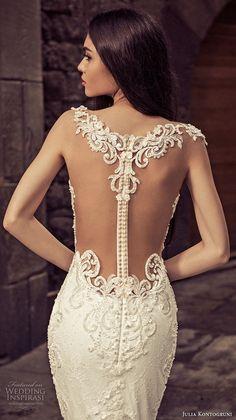 julia kontogruni 2018 bridal cap sleeves sweetheart neckline heavily embellished bodice elegant mermaid wedding dress sheer lace back royal train (2) zbv -- Julia Kontogruni 2018 Wedding Dresses