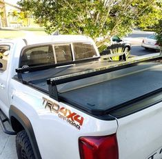 Toyota Tacoma Hi Rise Crossbars, for use with tonneau covers (fits years 2005 and up) — KB Voodoo Fabrications Toyota Tacoma Trd, Toyota Tacoma Roof Rack, Tacoma Bed Rack, Tacoma Prerunner, Tacoma Truck, Toyota 4runner, Pickup Camping, Truck Camping, Top Tents