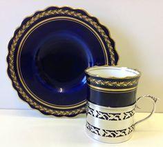 Aynsley Solid Silver Holder Cup & Saucer Birmingham 1923   eBay