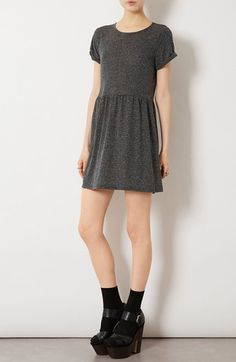 a431392a84 Topshop Speckled Jersey Dress available at  Nordstrom How To Roll Sleeves