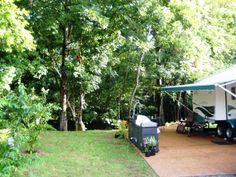 Up the Creek RV Camp - RV sites offer a refreshing alternative to the unreasonably cramped RV sites we have all grown accustomed to at today's campgrounds. We offer scenic creekside site & private, wooded sites. #camping