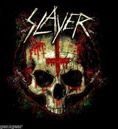 Slayer CD lgo Inverted Cross Ritual Skull