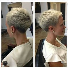 Just another great #chickfade by @dillahajhair. He just keeps rockin the short cuts