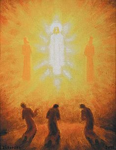 Ladislav Záborský 2006 Jesus transfigured with Moses and Elijah,witnessed by disciples Peter, James and John.