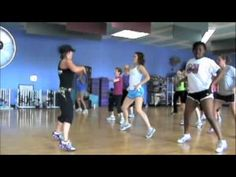 Drop it Low workout by fit2bstrong. It would be more fun if you got to actually drop it a few times.