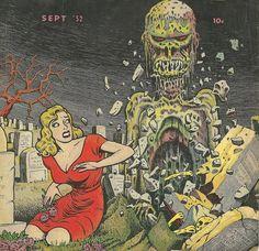 Basil Wolverton's twisted art from the old EC Comics Scary Comics, Ec Comics, Horror Comics, Creepy Images, Creepy Pictures, Comic Books Art, Comic Art, Basil Wolverton, Comic Poster