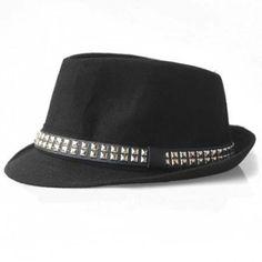 Hot Sale Stud Design Felt Fedora Hat For Men and Women