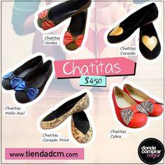 ¡#Love chatitas! ¡Aliadas indiscutibles! ¿Cuál es tu favorita? Conseguilas -> www.tiendadcm.com/products/list/brand/21115
