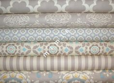 Taza Collection / Dena Designs Fabric / 6 Half Yard Bundle / NEUTRALS -Cotton Quilt   Fabric. $28.50, via Etsy.