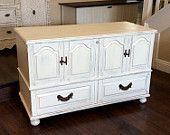 GORGEOUS HOPE CHEST White Lane Cedar Chest Beach Cottage Trunk Vintage Keepsake Box Rustic Chest Wooden Hope Chest - pinned by pin4etsy.com