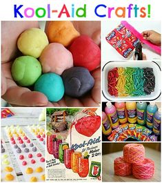 Lots of fun Kool-aid crafts! Great ideas! #crafts