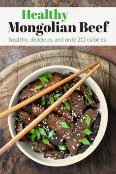 Healthy Mongolian Beef - Slender Kitchen. Works for Clean Eating, Gluten Free, Low Carb and Weight Watchers® diets. 231 Calories.