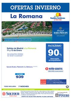 La Romana (Rep. Dominicana) 90% Grand Bahía Príncipe La Romana, salidas 11 y 13 Enero desde Madrid ultimo minuto - http://zocotours.com/la-romana-rep-dominicana-90-grand-bahia-principe-la-romana-salidas-11-y-13-enero-desde-madrid-ultimo-minuto/