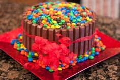 Fascinating KitKat And M&M Cake!!! - Afternoon Recipes