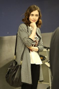 Lily Collins style--she looks like Crystal Reed sometimes, and then Victoria Beckham at others.