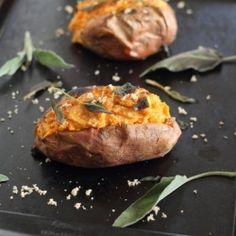 Twice Baked Sweet Potatoes HealthyAperture.com