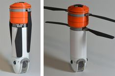 Most portable drones are hard to carry and break easily if you crash. The Sprite overcomes those limitations with a cylindrical, waterproof body and retractable blades. The design makes it easy to throw it into a pack, and when landing, the rotors halt in a half a second and fold into a retracted position. From there, the craft can safely alight on rocks, a bush or even a swamp without issues //