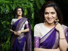 Find the trending blouse style you can wear with silk sarees now for Blouse Back Neck Designs, Blouse Neck Patterns, Designer Blouse Patterns, Pattern Blouses For Sarees, Kerala Saree Blouse Designs, Blouse Designs Silk, High Neck Saree Blouse, Saree Color Combinations, Designer Silk Sarees