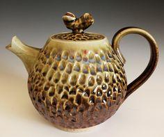 Aina Teapot, Handmade Porcelain, by ocpottery.