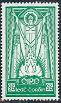 Get ready for St. Patrick's Day with a nice green St. Patrick stamp from Ireland.