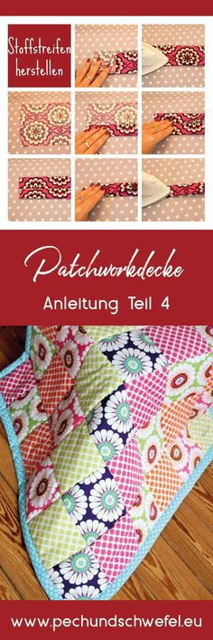 Die Patchworkdecke einfassen - gar nicht so schwer wenn man die Tipps und Tricks kennt. Hier mit Schritt für Schiet Anleitung mit vielen Bildern.