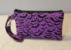 Purple Bat Wristlet, #bats https://www.facebook.com/BlackNook