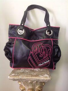 Metal Mulisha Bag Purse Designer Fashion Hip Rock Biker Black Hot Pink