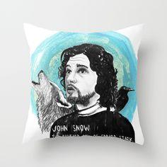 John Snow Throw Pillow