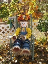 clay flower pot crafts | Scarecrow from terracota pots..cute!