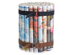 Rolled newspaper stool: Put your stack of old papers to use by making a cool stool
