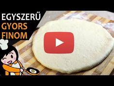 Egyszerű pizza tészta recept elkészítése videóval. A pizza tészta elkészítését részletes leírás is segíti. Elkészítési ideje: 75 perc