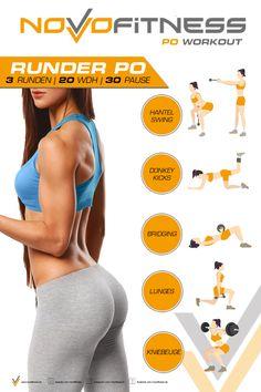 Klicke aufs Bild und schaue dir jetzt sofort 35 bungen f r einen Runden Po an Fitness Workouts, Yoga Fitness, Fitness Motivation, Fitness Goals, At Home Workouts, Health Fitness, Fitness Quotes, Weight Loss Plans, Weight Loss Tips