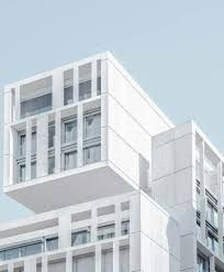 Discover Madrid's Geometric Architecture Through This Photo Series,Apartamentos en Gran Vía - Madrid. Glass Building, Concrete Building, White Building, Architecture Design, Minimalist Architecture, Concept Architecture, Architecture Geometric, Architecture Wallpaper, Building Architecture