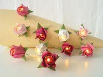 Rosengirlande für die Schultüte ♥ Lichterkette