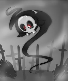 Duskull is styled after a traditional personification of Death, the Grim Reaper. It resembles a small hooded masked form in a black robe with a crossbon. Ghost Type Pokemon, Play Pokemon, Pokemon Team, The Grim, Catch Em All, Grim Reaper, Fanart, Otaku Anime, Sonic The Hedgehog