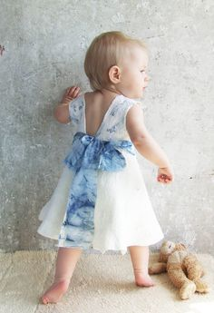 Nuno felting white ivory baby dress by Baymut on etsy