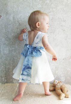 Nuno felting white ivory baby dress by Baymut on etsy