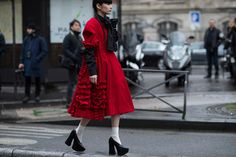 Check out our latest street style report and see what industry insiders wore to COMME des GARÇONS' astounding (and utterly bewildering) FW17 show.