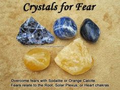 Crystals for overcoming fears. (via)