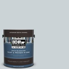 BEHR Premium Plus Ultra 1-gal. #N490-1 Absolute Zero Satin Enamel Exterior Paint