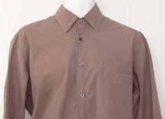 Men Hugo Boss Plaid Dress Shirt Relaxed Fit Long Sleeve 100% Cotton sz 16 #HUGOBOSS